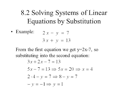 solving systems linear equations substitution 8 2 photoshots marvelous