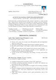 Example Of Accountant Resumes Accountant Resume Format Free Excel Templates
