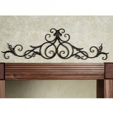 fantastic white wrought iron wall decor black scroll wall decor