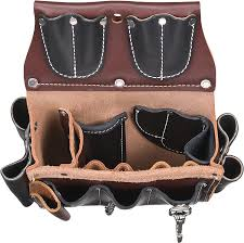 occidental leather all leather belt worn commercial electricians case with 25 pockets and tool holders that accommodate all your tools