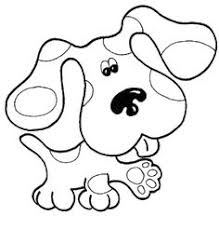 Small Picture Blues Clues Dog Blues Clues Coloring Pages Free Printable