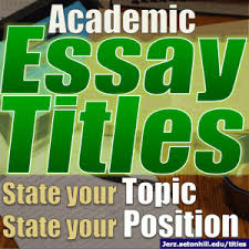 paper titles inform by stating your topic and position grab the  paper titles inform by stating your topic and position grab the reader s interest if you can jerz s literacy weblog