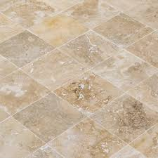 FREE Samples: Kesir Travertine Tile - Antique Pattern Sets Scabos Standard  / Antique Pattern / Brushed, Chiseled, and Partially Filled