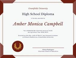 Certificate Border Template Free Interesting Maroon Seal High School Diploma Certificate Templates By Canva