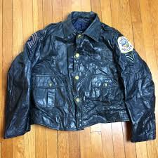 vintage 60 s chicago police department officer cop coat motorcycle