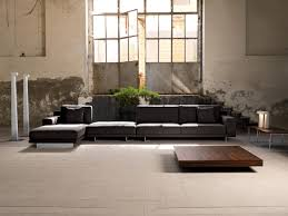 contemporary industrial furniture. Brilliant Industrial Contemporary Industrial Interior Design Dark Grey Sectional Custom Made  Sofa To Industrial Furniture T