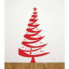 All Kind Of Christmas Holiday Wall Decals Inspiring Artistic Red Christmas Tree Decals