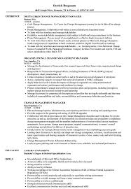 Change Management Manager Resume Samples Velvet Jobs