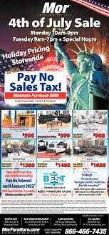 4th of July Sale Mor Furniture San Diego CA