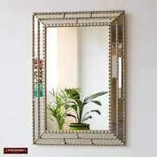 Silver Decorative Rectangular Wall Mirror Bathroom Mirror Wall Decor From Peru Ebay