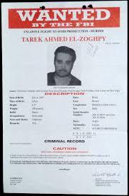 Fbi Wanted Poster Tarik Ahmed El Zoghpy Wanted For Murder