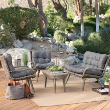 Belham Living Kambree All Weather Wicker Outdoor Conversation Set |  Hayneedle
