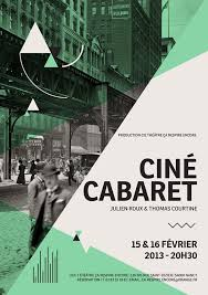 Poster Layout Ideas Classic Cine Cabaret Movie Poster Example Venngage Poster Examples