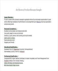 Ideas Collection Sample Resume For Air Hostess Fresher With Additional Cover