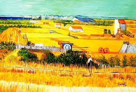vincent van gogh harvest landscape 60x90 cm reion oil painting