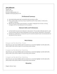 Functional Resume Resume Work Template