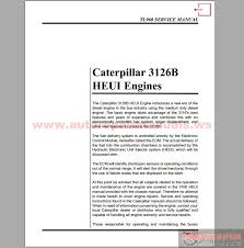 caterpillar 3126b heui engine service manual auto repair manual cat 3126b heui engines service manual size 169kb language english type pdf pages 26