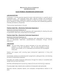 Best Photos Of Technician Job Description Template - Computer ...