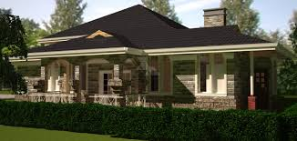4 bedroom bungalow house plan by architect in kenya