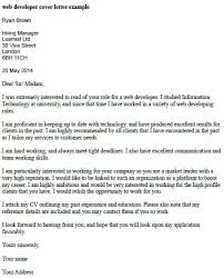 Cover Letter For Web Developer Job Application Resume Examples ...