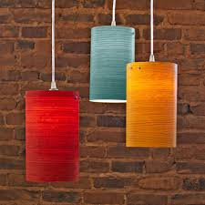 cylindrical wood veneer pendant lights