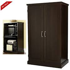 home office desk armoire. Computer Armoire Cabinet Desk Cherry Home Office Wood Furniture With Doors  \u0026 EBook By Easy\u0026FunDeals Home Office Desk Armoire