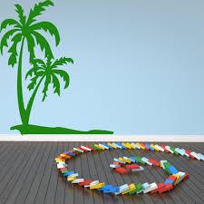 palm trees wall sticker tropical beach wall decal bathroom kitchen home decor