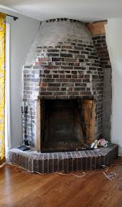 Cheap Fireplace Makeover Ideas Floor To Ceiling Brick Fireplace Makeover Reptil Club Loversiq