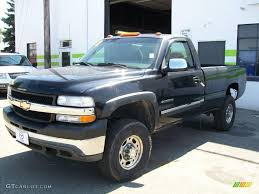 2002 Onyx Black Chevrolet Silverado 2500 LS Regular Cab 4x4 ...