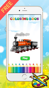 These train coloring pages to print will surely make things easier for both of you. Train Coloring Book For Kid Vehicle Drawing Free Game Paint And Color Good Games Hd Free Download App For Iphone Steprimo Com