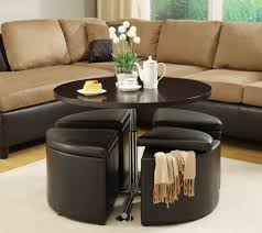 10 best collection of round leather storage ottoman coffee table within leather storage ottoman coffee table decorating