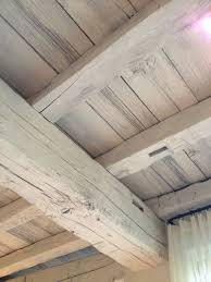 White Washed Wood Ceiling If There Is Ever A Cottage This Would Be A Great Look White Wash