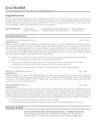 Secretary Resume Sample Resume Samples Legal Secretary Therpgmovie 18