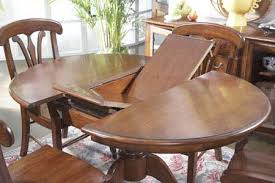 round dining room table with leaf. Round Oak Pedestal Table With Butterfly Leaf Dining Room I