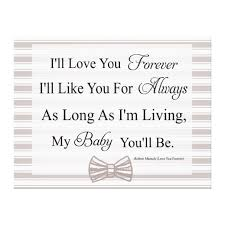 I'll Love You Forever Baby Quote Canvas Print Zazzle Enchanting I Ll Love You Forever Quote