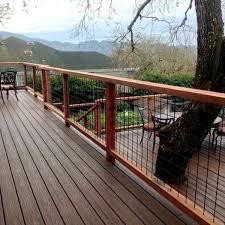 Image Balcony Wild Hog Rail Textured Black Decksdirect 4x4 Mesh Level Rail Panels By Wild Hog Railing Decksdirect