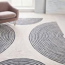 jute ripple circles rug