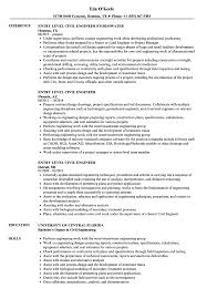 Civil Engineering Resume Entry Level Civil Engineer Resumes ...