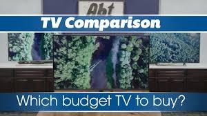 Samsung Smart Tv Comparison Chart Top 3 Budget 4k Tvs For 2018 Sony Vs Samsung Vs Lg