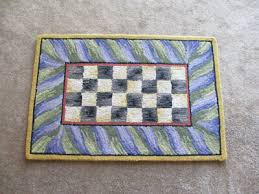 mackenzie childs courtly check 2 x 3 wool rug purple green rectangle