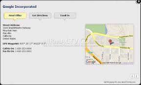 google office contact. the free version of site creates 2 tabs head office address and listing get directions google contact