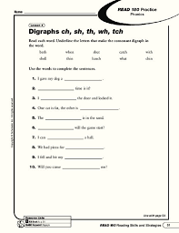 A collection of english esl worksheets for home learning, online practice, distance learning and english classes to teach about phonics, phonics. Digraphs Ch Sh Th Wh Tch Worksheet For 4th 6th Grade Lesson Planet