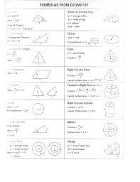 Geometry Formula Chart Geometry Formulas Geometry Formulas Mathematics Geometry