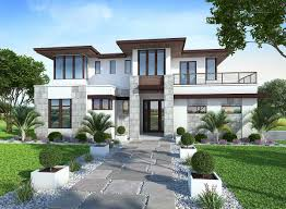 modern house. Unique House Plan 86033BW Spacious Upscale Contemporary With Multiple Second Flooru2026 Inside Modern House U