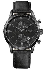 hugo boss black mens chrono leather strap watch 1512567 hollins hugo boss black mens chronograph leather strap watch 1512567