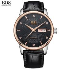online buy whole watch company men from watch company angela bos brand company auto wind automatic men s watch mechanical sapphire leather mens leather strap watch