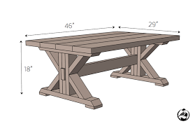impressive coffee table plans with trestle coffee table free diy plans rogue engineer