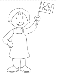 Small Picture Girl waving Canada flag coloring page Download Free Girl waving