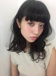 面長丸顔別モテ髪no1黒髪ロングパーマのヘアカタ特集 Hair