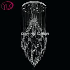 crystal chandelier flush mount luxury modern crystal chandelier flush mount staircase hanging lamp quality polished steel crystal chandelier flush mount